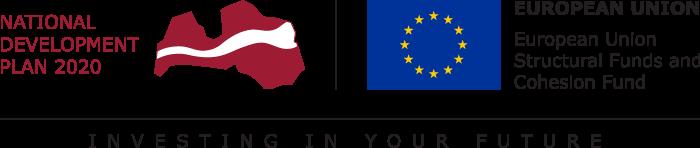 European Regional Development Fund within National Development Plan of Latvia 2020 logo
